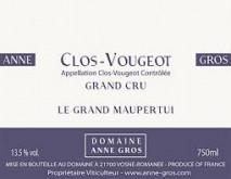 Domaine Anne Gros Clos de Vougeot Grand Cru Le Grand Maupertui 2018 Cote de Nuits