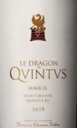 Chateau Quintus Le Dragon de Quintus 2019 St Emilion