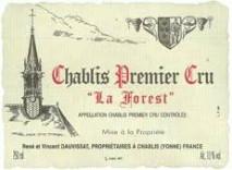 Domaine Rene et Vincent Dauvissat, Chablis 1er Cru Forest 2016 Chablis