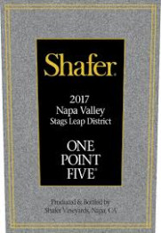 Shafer Vineyards One Point Five Cabernet Sauvignon 2017 Napa Valley