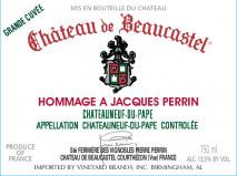 Chateau de Beaucastel, Hommage a Jacques Perrin 2018 Chateauneuf du Pape