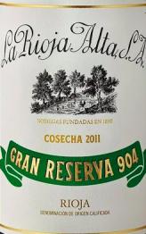 Gran Reserva 904, La Rioja Alta S.A. 2011 Rioja