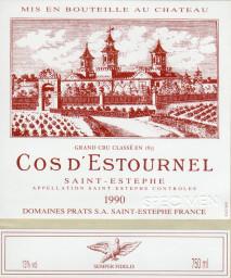 Chateau Cos d'Estournel 1990 St Estephe