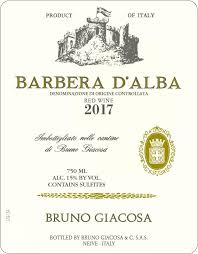Bruno Giacosa, Barbera d'Alba 2019 Piedmonte