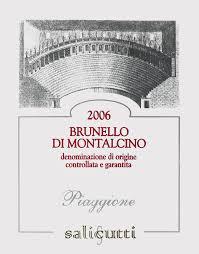 Podere Salicutti Brunello di Montalcino Piaggione 2016 Brunello di Montalcino