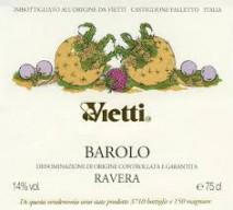Vietti Barolo Ravera 2017 Barolo