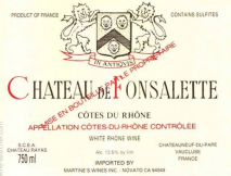 Rayas, Chateau de Fonsalette Blanc 2009 Cotes du Rhone