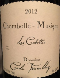 Domaine Cecile Tremblay Chambolle Musigny 1er Cru Les Cabottes 2012 Cote de Nuits