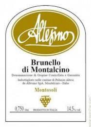Brunello di Montalcino, Montosoli Altesino 2016 Tuscany