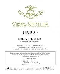 Vega Sicilia Unico Gran Reserva 2007 Ribera del Duero