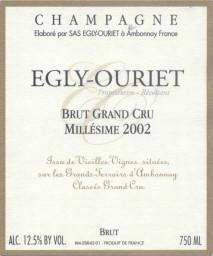 Egly Ouriet Brut Grand Cru Millesime 2002 Champagne