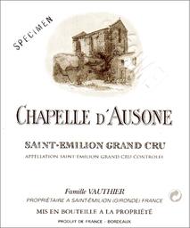 La Chapelle d'Ausone 2008 St Emilion