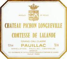 Chateau Pichon Longueville Comtesse de Lalande 2000 Pauillac