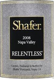 Shafer Vineyards Relentless 2012 Napa Valley