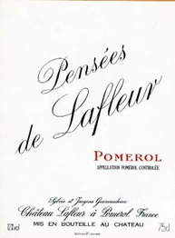 Les Pensees de Lafleur (2nd wine of Chateau Lafleur) 2011 Pomerol