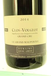 Domaine Anne Gros Clos de Vougeot Grand Cru Le Grand Maupertui 2014 Cote de Nuits
